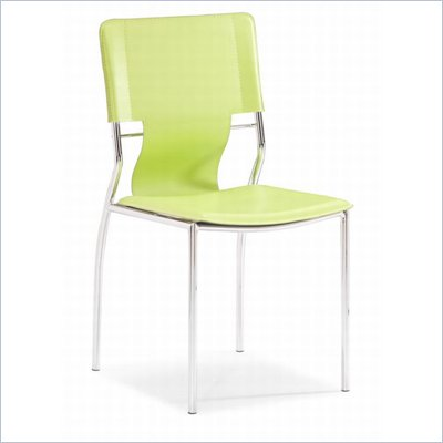 Zuo Trafico Side Chair in Green