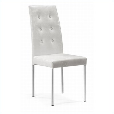Zuo Tuft Dining Chair in White