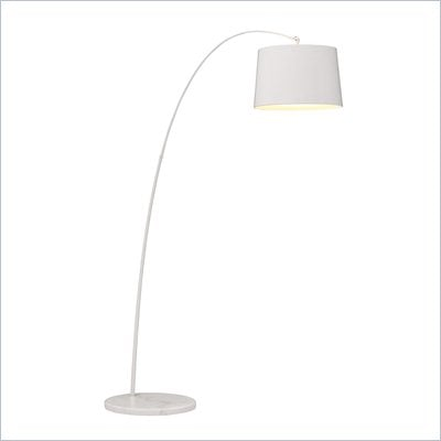 Zuo Twisty Floor Lamp in White