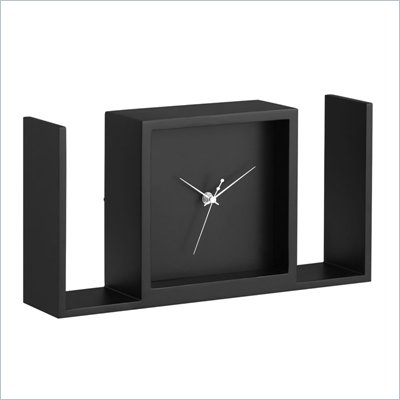 Zuo Visage Table Clock in Black
