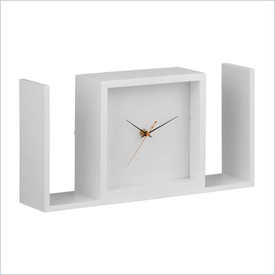 Zuo Visage Table Clock in White
