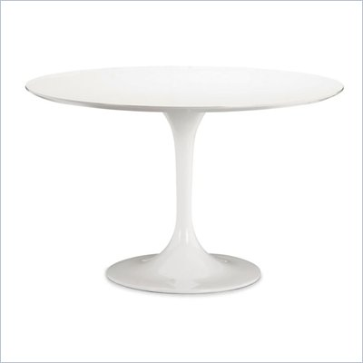 Zuo Wilco Round Dining Table in White