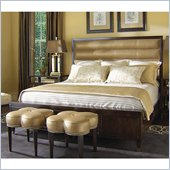 Lexington St.Tropez Avalon Upholstered Bed in Rich Walnut Brown