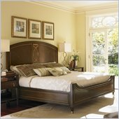 Lexington St.Tropez Palais Panel Bed in Rich Walnut Brown