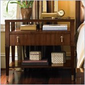 Lexington St.Tropez Christine Nightstand in Rich Walnut Brown