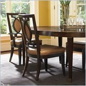 Lexington St.Tropez Saverne Side Chair in Rich Walnut Brown