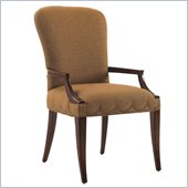 Lexington St.Tropez Chateau Upholstered Arm Chair in Rich Walnut Brown
