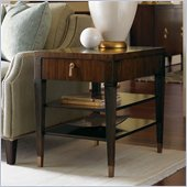 Lexington St.Tropez Rochelle End Table in Rich Walnut Brown