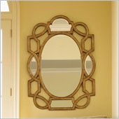 Lexington St.Tropez Granville Scroll Mirror in Gold Finish