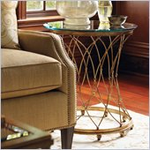 Lexington St.Tropez Cabris Accent Table in Gold Finish