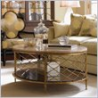 ADD TO YOUR SET: Lexington St.Tropez Athene Oval Cocktail Table in Gold Finish