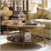 Lexington St.Tropez Athene Oval Cocktail Table in Gold Finish