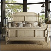 Lexington Twilight Bay Hathaway Panel Bed in Antique Linen