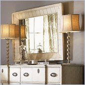 Lexington Twilight Bay Childress Mirror in Antique Linen