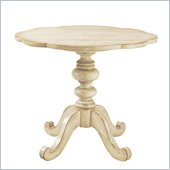 Lexington Twilight Bay Keaton Pedestal End Table in Antique Linen