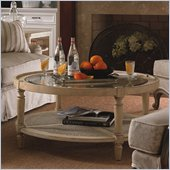Lexington Twilight Bay Holloway Cocktail Table in Antique Linen