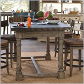 Lexington Twilight Bay Shelter Island Bistro Table in Driftwood