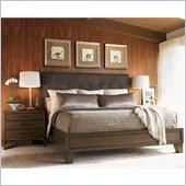 Lexington 11 South Donovan California King Upholstered Bed in Chestnut Brown