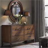 Lexington 11 South Boutique Dresser in Chestnut Brown