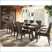 Lexington 11 South Pinnacle Dining Table in Chestnut Brown