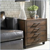 Lexington 11 South Moda Chairside Chest in Chestnut Brown