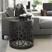 Lexington 11 South Sculptura Accent Table in Soft Graphite Finish