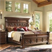 Lexington Fieldale Lodge Pine Lakes Bed in Distressed Brown Mahogany