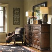 Lexington Fieldale Lodge Prescott Dresser in Distressed Brown Mahogany
