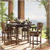 Lexington Fieldale Lodge Durango Bistro Table in Distressed Brown Mahogany