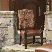 Lexington Fieldale Lodge Aspen Arm Chair in Brown Mahogany - Ships Assembled