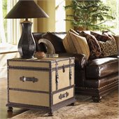 Lexington Fieldale Lodge Gunnison Trunk Table in Distressed Brown Mahogany
