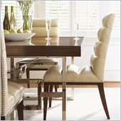 Lexington Mirage Stuart Leather Side Chair in Cashmere Finish - Ships Assembled