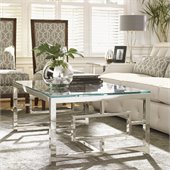 Lexington Mirage Russell Glass Top Cocktail Table in Cashmere Finish