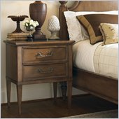 Lexington Quail Hollow Laurel Bedside Chest in Wellington Finish