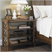 Lexington Quail Hollow Dawson Open Nightstand in Wellington Finish