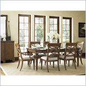 Lexington Quail Hollow Grayson Dining Table in Wellington Finish