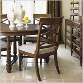 Lexington Quail Hollow Warren Side Chair in Wellington Finish-Assembly Required