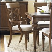 Lexington Quail Hollow Warren Arm Chair in Wellington Finish-Assembly Required