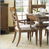 Lexington Quail Hollow Warren Arm Chair in Wellington Finish - Ships Assembled