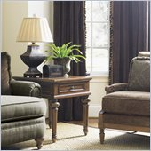 Lexington Quail Hollow Corbin End Table in Wellington Finish