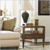 Lexington Quail Hollow Barlow End Table in Wellington Finish