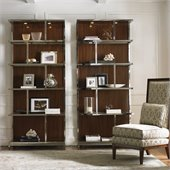 Lexington Mirage Kelly Wall Bookcase in Cashmere Finish