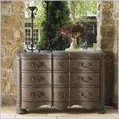 Lexington La Tourelle Cannes 3 Drawer Single Dresser in Aged Mocha Brown