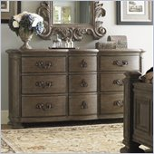 Lexington La Tourelle Chateaux 9 Drawer Dresser in Aged Mocha Brown