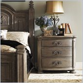 Lexington La Tourelle Merlot 3 Drawer Nightstand in Aged Mocha Brown