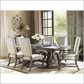 Lexington La Tourelle Toulouse 7 Piece Dining Set in Aged Mocha