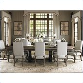 Lexington La Tourelle Toulouse 9 Piece Dining Set in Aged Mocha