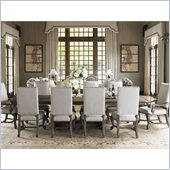 Lexington La Tourelle Toulouse 11 Piece Dining Set in Aged Mocha