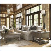 Lexington La Tourelle La Grange 3 Piece Coffee Table Set in Aged Mocha
