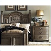 Lexington La Tourelle Bergerac 4 Piece Bedroom Set in Aged Mocha